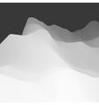Landscape Background Mountainous Terrain 3d vector image