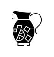 lemonade pitcher - sangria - bewerage icon vector image