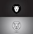 Lion modern two tone and outline shape logo design vector image
