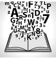 Open Book- Education vector image
