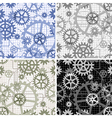 Seamless gears pattern vector image