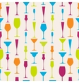 Seamless stemware background vector image