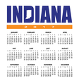 2017 Indiana calendar vector image vector image