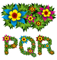 flowers alphabet 06 vector image vector image