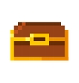 treasure chest pixelated icon vector image