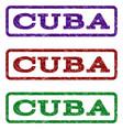 cuba watermark stamp vector image