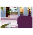 Hotel interior vector image vector image