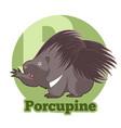 abc cartoon porcupine vector image