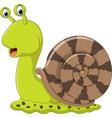 cute snail cartoon vector image
