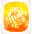 Summer time greeting with Tropical flowers vector image vector image