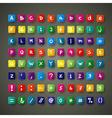 Colour font set vector image