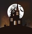 Halloween castle background vector image