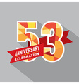 53rd Years Anniversary Celebration Design vector image