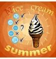 retro ice cream ads vector image