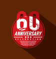 60th Years Anniversary Celebration Design vector image