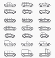 Car body types icons vector image