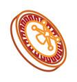 casino wheel icon vector image