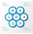 e-commerce icons set collection of employee vector image