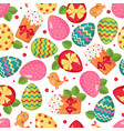 easter seamless pattern with eggs vector image
