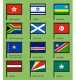 Flags flat set-10 vector image