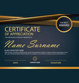 gold elegance horizontal certificate i vector image