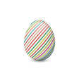 painted and decorated easter egg isolated on the vector image