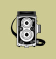 retro camera vector image