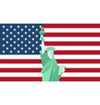 statue of liberty national monument in america vector image