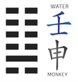 Symbol of i ching vector image