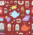 tea time drinking procedure icons how to prepare vector image