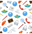 Universal icons seamless pattern vector image