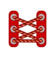 laces in dark red design vector image