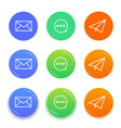 live chat conversation icons message icons vector image