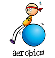 A stickman doing an aerobics vector image vector image