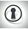 Curved keyhole sign icon vector image