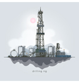 Oil or Natural Gas Drilling Rigs vector image