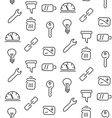 Technical tools seamless pattern vector image
