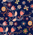 Ornamental floral seamless pattern for textile or vector image vector image