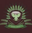 vintage logo of the eagle vector image