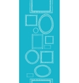 Blue blank picture frames vertical seamless vector image