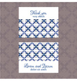 Business Card with geometric floral pattern vector image