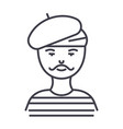 french manartistmime line icon sign vector image