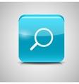 Glass Search Button Icon vector image
