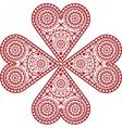 Heart handmade crochet vector image