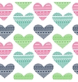 Hearts in Ethnic Style vector image