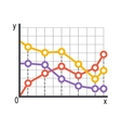 Lined chart infographics vector image