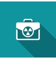 Nuclear suitcase sign vector image