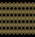 overlapping golden squares black background vector image