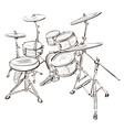Sketch of a Drum Kit vector image