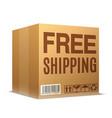 free shipping cardboard box vector image vector image